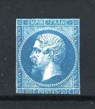 "FRANCE STAMP TIMBRE 14 "" NAPOLEON III 20c BLEU FONCE "" NEUF x  A VOIR  P910"