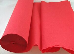 1 Red Large Crepe Paper Roll  26metres x 50cm by clikkabox