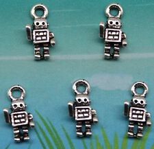 Free shipping 40pcs retro style The little robot alloy charms pendants 13*7mm