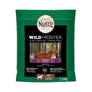 Nutro Wild Frontier Venison And Beef For Dogs Adults Breeds Medium, 1,5 KG