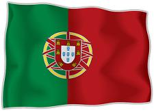 "Portugal Country Flag Car Bumper Window Mirror Sticker Decal 5""X4"""
