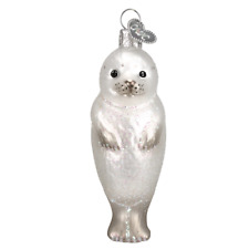 """""""Seal Pup"""" (12245)X Old World Christmas Glass Ornament w/OWC Box"""