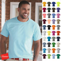 Hanes Men's Tagless Comfort T-Shirt Heavyweight 100% Cotton Plain Basic Tee 5250