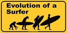 """Evolution of a Surfer"" Metal Surf Sign Home Decor NEW"