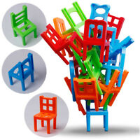 Family Board Game Kid Educational Toy Balance Stacking Chairs Office Game Toy