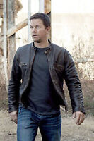 Contraband Mark Wahlberg's Mens Distressed REAL Cow Hide Leather Jacket