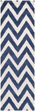Safavieh Cambridge NAVY / IVORY Wool Runner 2' 6 x 12' - CAM139G-212