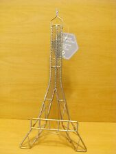 Eiffel Tower Silver Book Stand or Picture Easel or Plate Display.