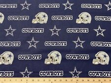 """NFL DALLAS COWBOYS football, 1/4 yard (9"""" x 57""""), 100% Cotton Fabric, Blue"""