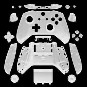 Clear Full Housing Shell Buttons Mod Kit Replacement for Xbox One S X Controller
