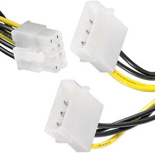 4 pin molex to 8 pin pci-e PCI Express 8 Pin Graphics Card Power Cable Twin Dual