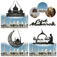 Hollow Felt Hanging Ramadan Decoration Eid Mubarak DIY Crafts Home Ornaments