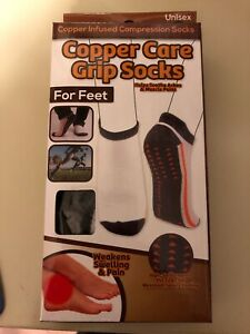 Copper Care Fit Low Cut Grip Socks Unisex  Md/Lg                   FAST SHIPPING