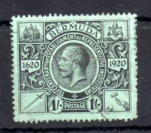 Bermuda KGV 1921 1/- black green SG#73 good used WS13372