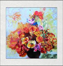 Exquisite Chinese SuZhou  Handmade Embroidery Art Painting The Beautiful Rose