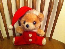 vintage Russ Berrie Jolly Christmas teddy bear plush 1978 stuffed animal Holiday