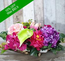 Artificial Flowers- Beautiful Purple Arrangement For Home Decor Or Office