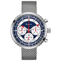 Bulova Special Edition Men's 96K101 Quartz Chronograph Red Accents 46mm Watch