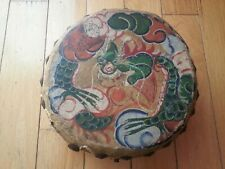 Vintage 1920s Chinese tom tom - painted dragon - for antique drum set