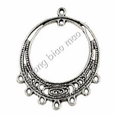 20Pcs Tibetan Silver Loop Connectors Charms Pendants Craft DIY Findings 34x28mm