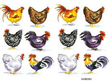 HaNDPaiNTeD CounTRY CoTTaGe RooSTeRs KiTcheN ShaBby WaTerSLiDe DeCALs