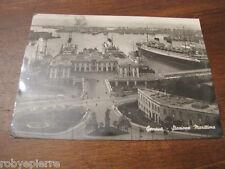 Cartolina Postcard GENOVA STAZIONE MARITTIMA edizioni merlo 1947 tabaccheria 44
