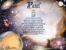 """""""Space"""" Name Meaning Prints Personalized (Planets, Solar System, Astronomy)"""