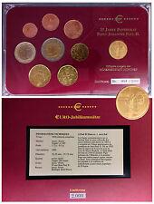 RARE Coffret ITALIE-VATICAN 2003 - 8 pièces 1ct à 2€ + 1 MEDAILLE OR VATIKAN