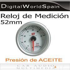 RELOJ DE MEDICION PRESION DE ACEITE PARA SALPICADERO DIAMETRO 52mm