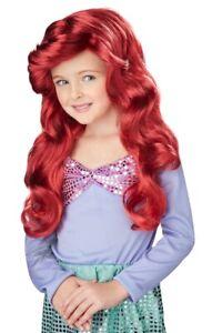 Little Mermaid Princess Ariel Red Fairy Tale Book Week Child Girls Costume Wig