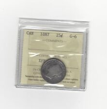 **1887**, ICCS Graded Canadian, 25 Cent, **G-6**
