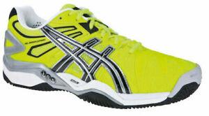 Asics Mens Gel-Resolution 5 Clay E302Y-0490 Tennis Shoe Yellow / Black / Silver