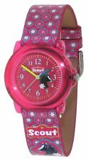 Scout Kinderuhr Pferd 280305012, Kinder Uhr Armbanduhren Mädchen Lernuhr Pferd