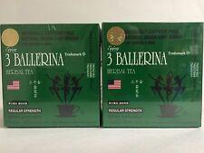 2 BOXES OF 3 BALLERINA TEA WITH 30 TEA BAGS EACH BOX (60 BAGS TOTAL) NO CAFFEINE