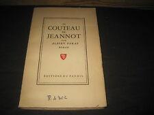 Albert PARAZ: le couteau de Jeannot. (ex de bibliothèque, cachets, etc)