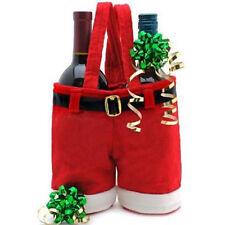 Santa Claus Pants Christmas Wine Bottle Cover Case Holder CandyBag Xmas Stocking