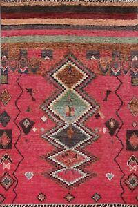 Tribal Geometric Moroccan Berber Oriental Area Rug Hand-knotted Plush Wool 8x11