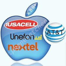 MEXICO AT&T Iusacell Unefone Nextel iPhone X 8 8+ Premium Unlock Service