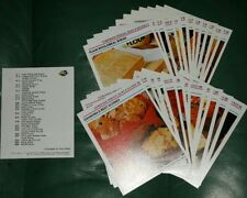 WOMEN'S WEEKLY RECIPE CARDS Homemade Breads, Buns & Scones  #1-24 + index