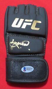 JESSICA ANDRADE  Signed WOMEN's UFC 266 GLOVE  AUTO Signature BECKETT COA Smudge