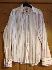 River Island Shirt, Pink Striped, Medium
