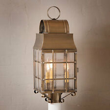 Country new WASHINGTON weather Brass outdoor post lantern light / FREE SHIPPING