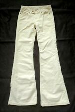 "Seven 7 For All Mankind Beige Corduroy Flare Jeans Sz 25 Inseam 32"" Made in USA"