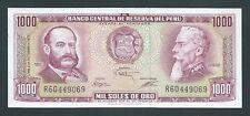 F.C. PERU , 1000 SOLES DE ORO 1975 , S/C ( UNC ) , P.111 .