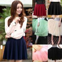 Women Fashion Princess Fairy Style 2 layers Tulle Dress Bouffant Skirt Mini LM
