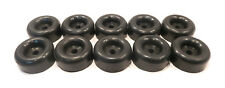 "(10) 2.5"" BLACK RUBBER BUMPERS with 7/16"" Hole for Car Trailer Door Ramp Guard"