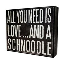 jennygems - all you need is love and a schnoodle - wooden stand up box sign sch
