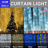 LED Curtain Lights Waterfall 3M x 3M 304LEDs LED String Light Window Party, Home