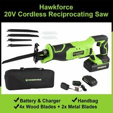 20V Rechargeable Li-Ion Cordless Reciprocating Saw Battery & Charger & 6 Blades