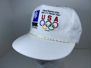 Vtg York International 1992 Olympics Hat USA NWT Snapback Cap